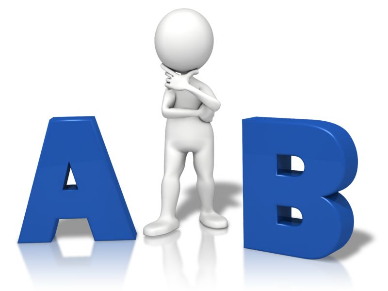 Clipart - A Or B Which One