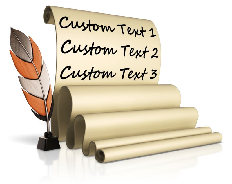 This Presentation Clipart shows a preview of Feather Pen And Custom Scroll