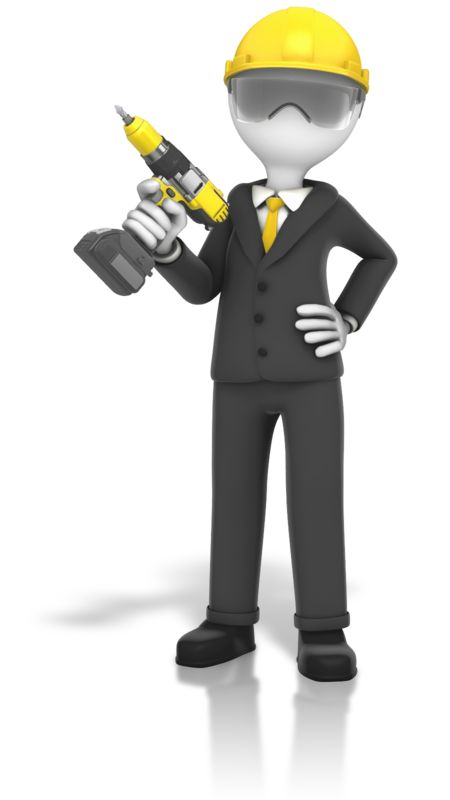 Clipart - Construction Business Cordless Drill