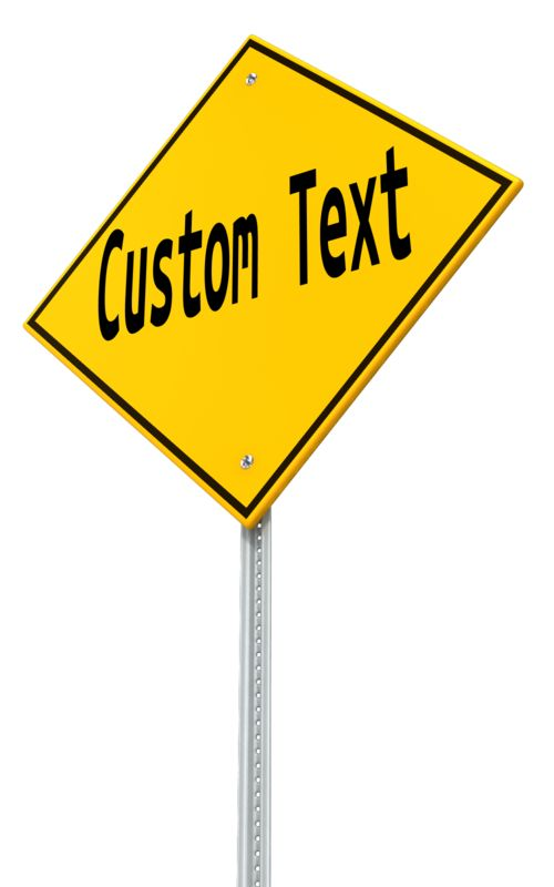 This Presentation Clipart shows a preview of Angled Custom Street Sign