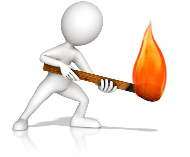 Clipart - Figure With Matchstick