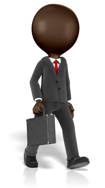 Clipart - Business Figure Walking