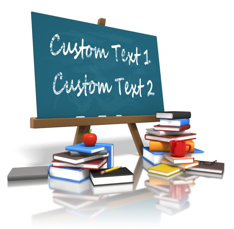 This Presentation Clipart shows a preview of Custom Board Education Books