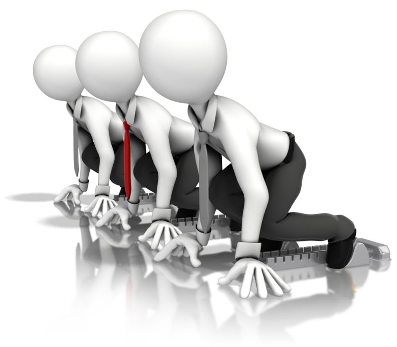 Clipart - Business Men Race