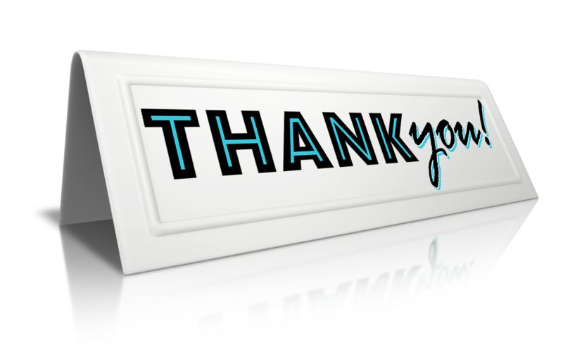 Clipart - Beveled Card Thank You