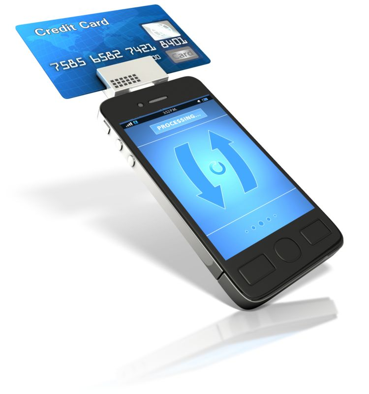 Clipart - Smart Phone Credit Card Reader