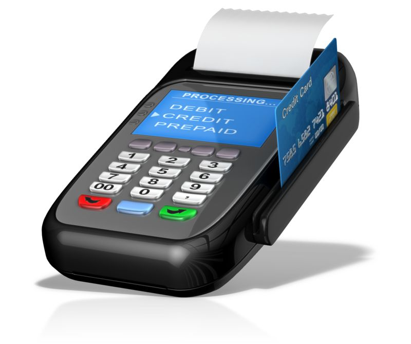 Clipart - Point Of Sale Machine Card Swipe
