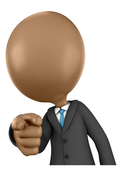 Clipart - Business Figure Pointing