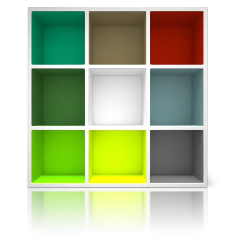 Clipart - Colored Container Shelving Unit