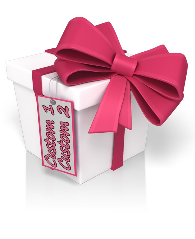 This Presentation Clipart shows a preview of Custom Text Present