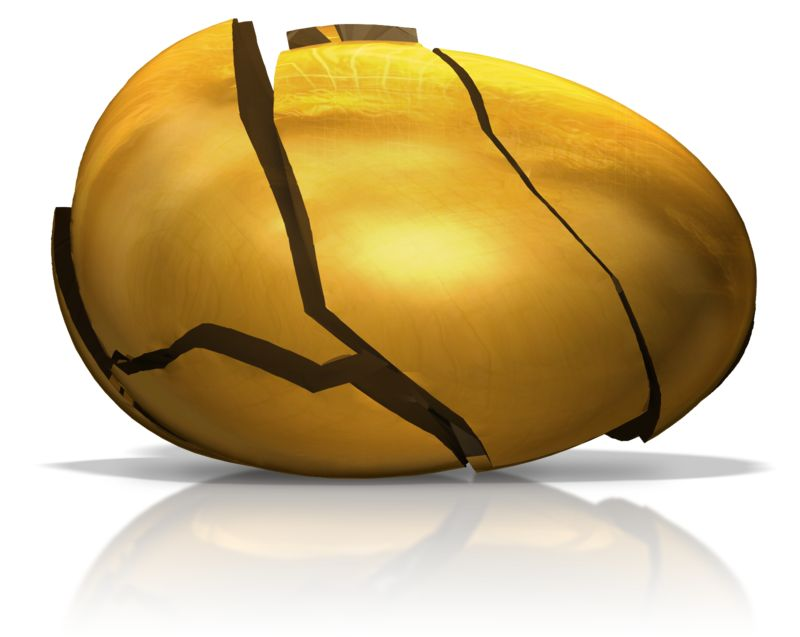 Clipart - Broken Golden Egg