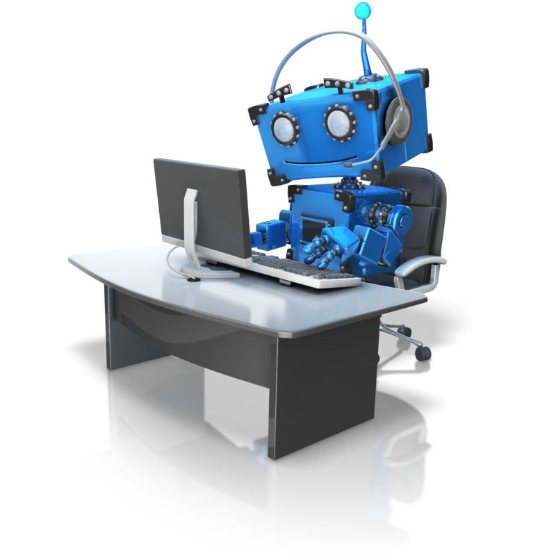 Clipart - Robot Automated Customer Service
