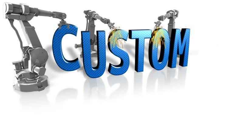 This Presentation Clipart shows a preview of Robot Building Custom Text