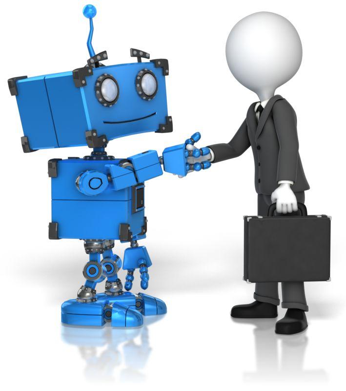 Clipart - Robot Business Handshake
