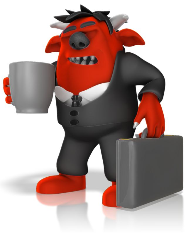Clipart - Monster Headed To Work