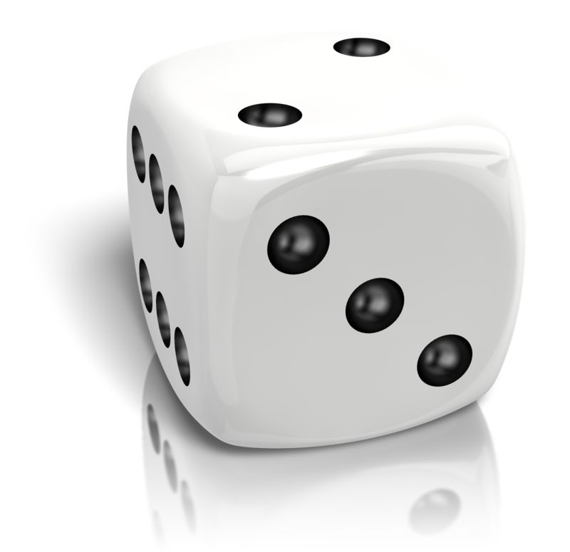 Clipart - Dice Rolled A Two