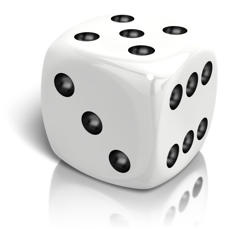 Clipart - Dice Rolled A Five
