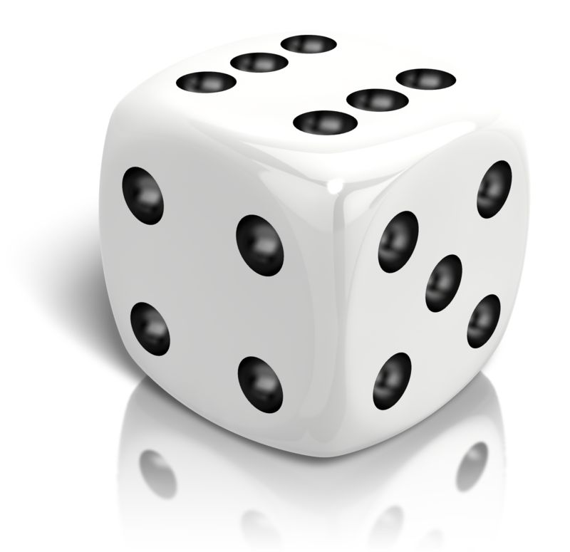 Clipart - Dice Rolled A Six