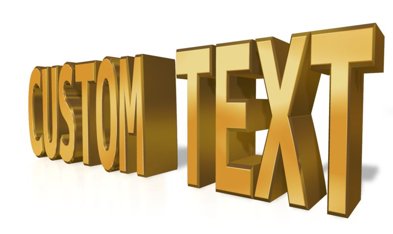 This Presentation Clipart shows a preview of Custom Text Gold