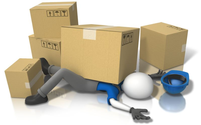Clipart - Construction Accident Injury