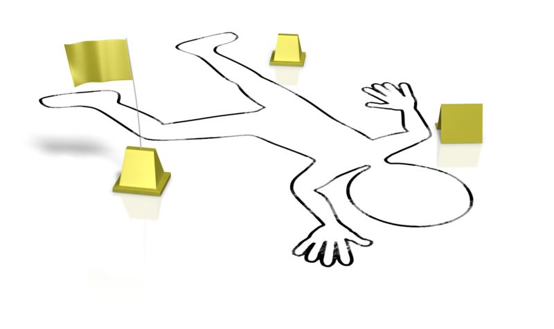 Clipart - Crime Victim Body Outline