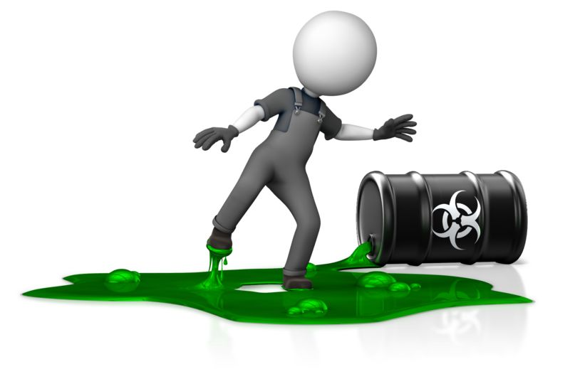 Clipart - Figure in Toxic Spill Hazard