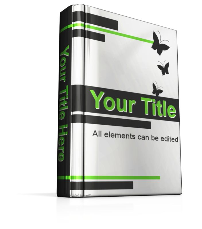 This Presentation Clipart shows a preview of Custom Upright Book