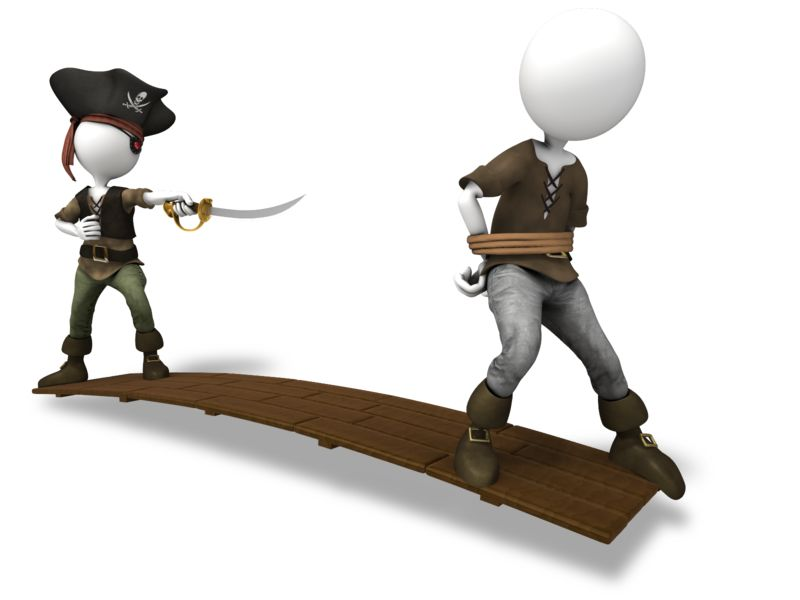 Clipart - Pirate Walk The Plank