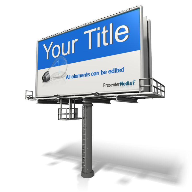 This Presentation Clipart shows a preview of Custom Angled Billboard
