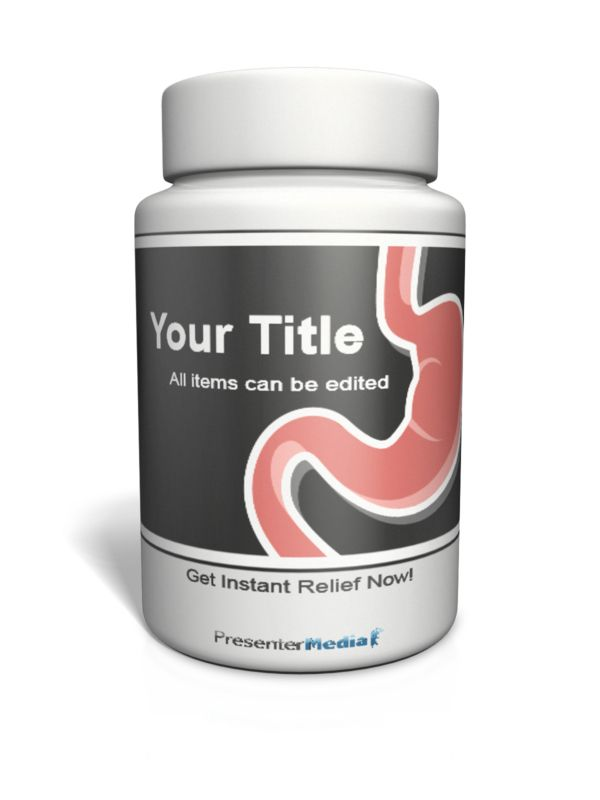 This Presentation Clipart shows a preview of Pill Bottle Custom