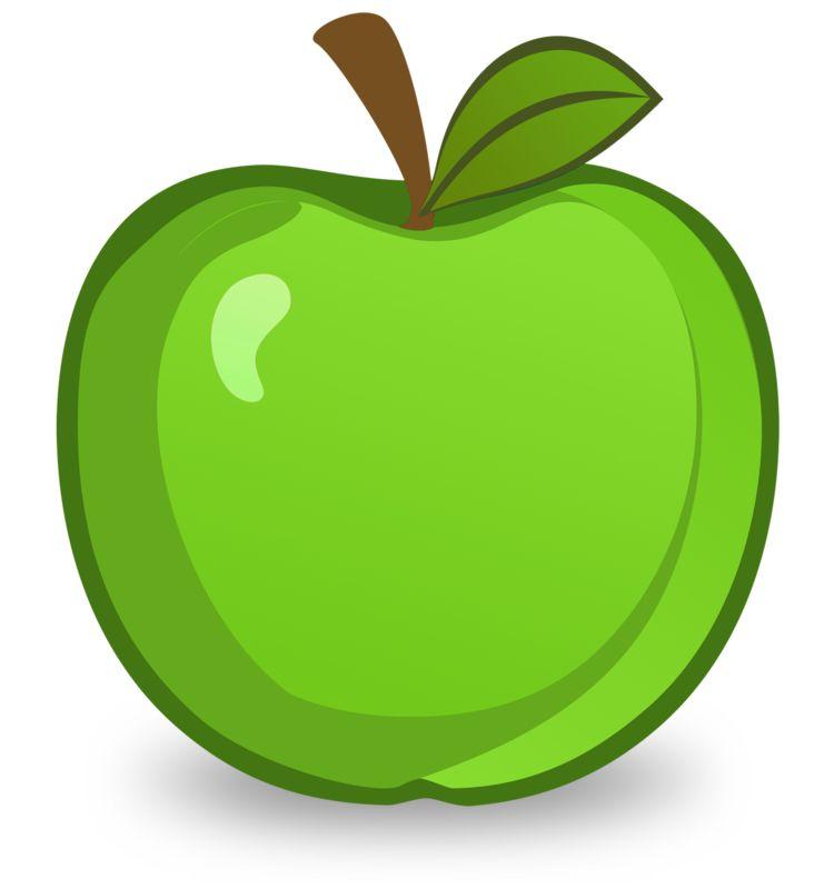 Clipart - Green Apple Illustration