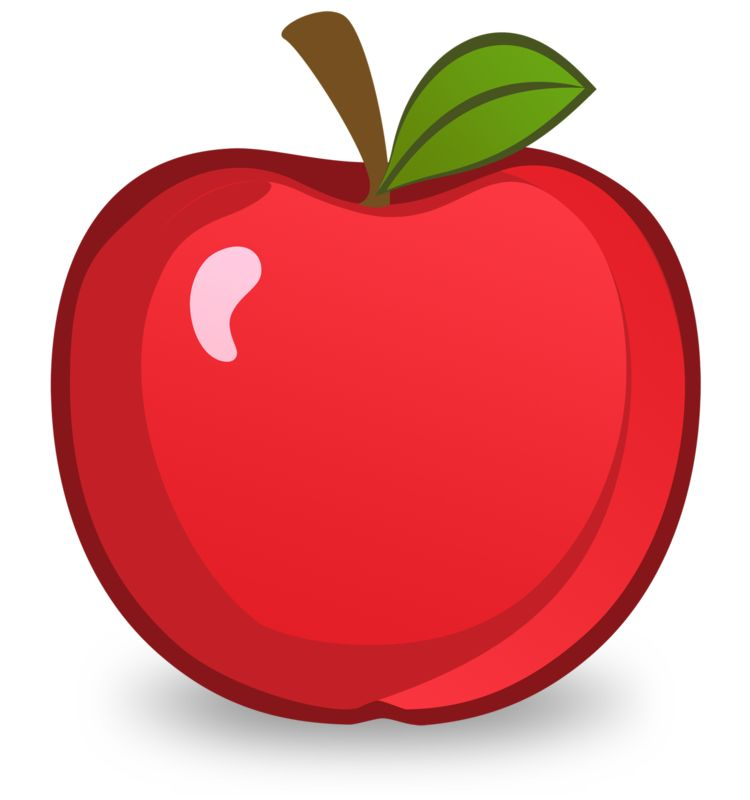 Clipart - Red Apple Illustration