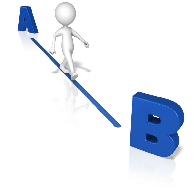 Clipart - Figure A To B the Quickest Way