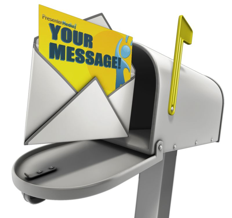 This Presentation Clipart shows a preview of Open Custom Letter In Mailbox