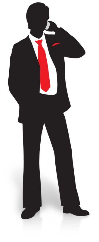 Clipart - Businessman Silhouette Phone