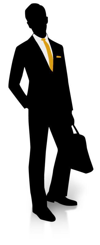 Clipart - Businessman Silhouette Pocket