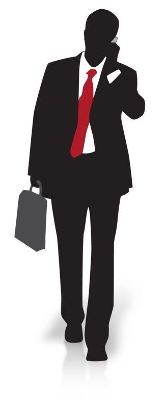 Clipart - Businessman Silhouette Walking
