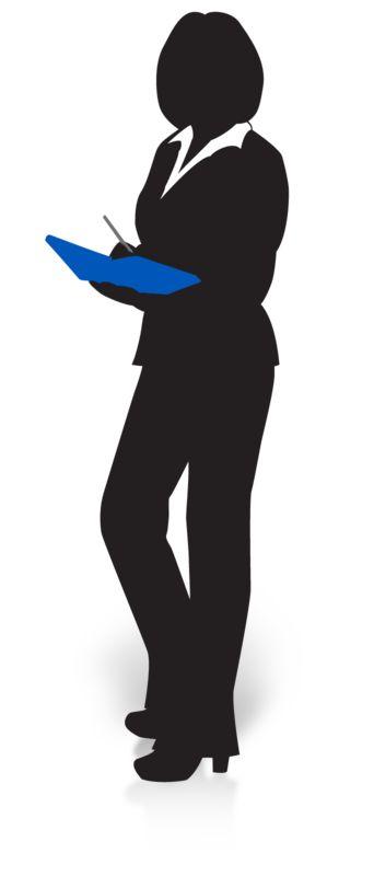 Clipart - Businesswoman Silhouette Book