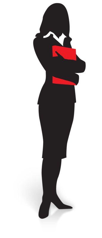 Clipart - Businesswoman Silhouette Folder