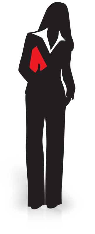 Clipart - Businesswoman Silhouette Carry File