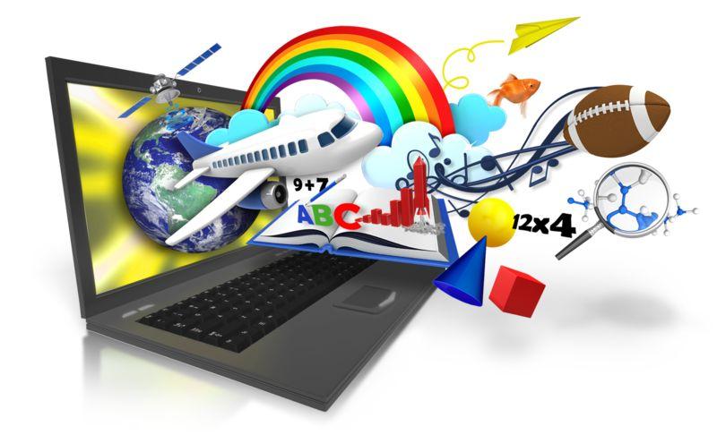 Clipart - Laptop Education Imagination