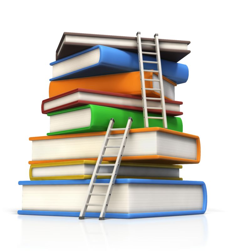 Clipart - Ladders to Top of Book Stack