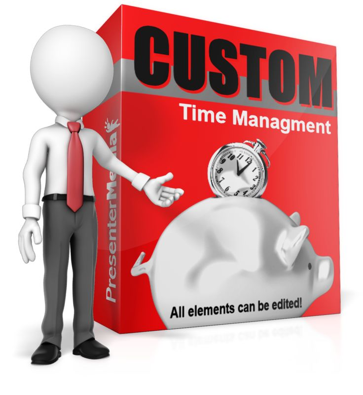 This Presentation Clipart shows a preview of Presenting Custom Software Box