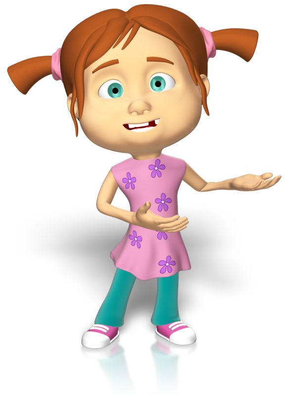 Clipart - Young Girl Presenting