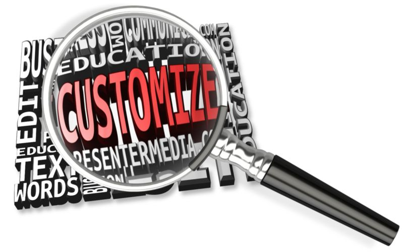 This Presentation Clipart shows a preview of Magnify Word Custom Text Mosaic