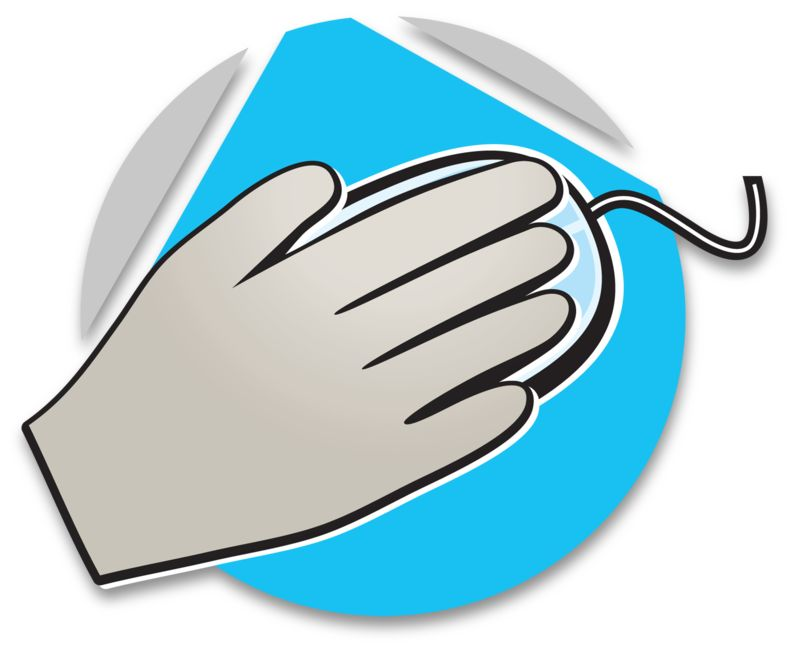 Clipart - Hand On Mouse Icon