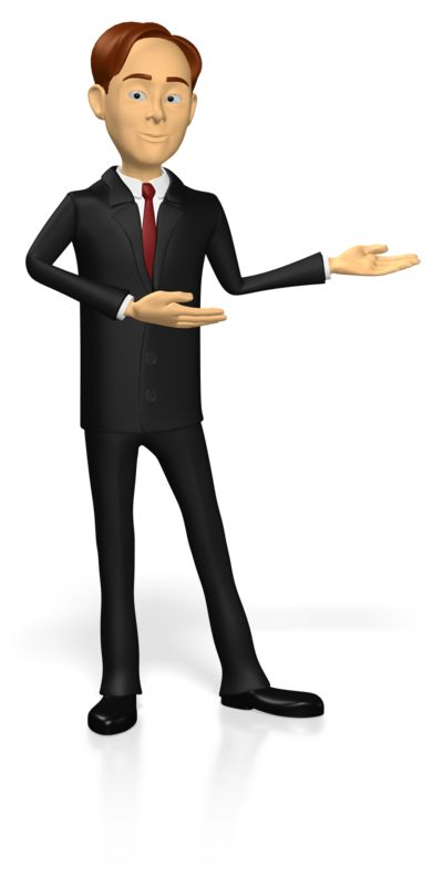 Clipart - Business Guy Presenting