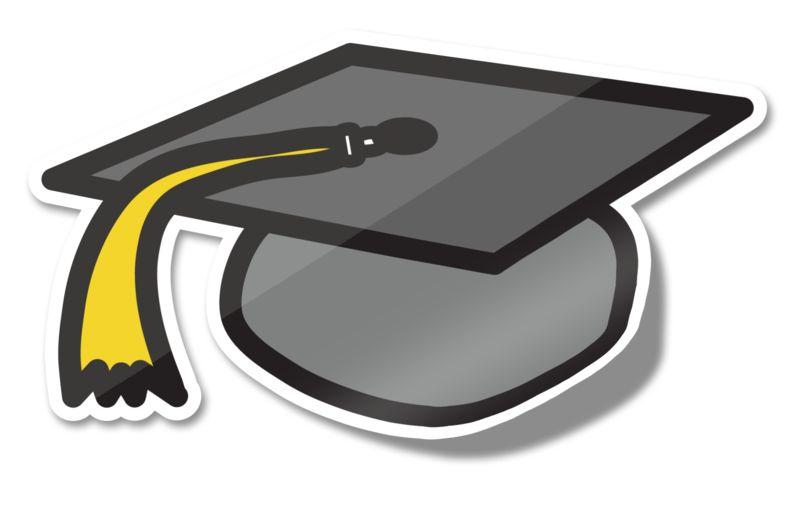 Clipart - Graduation Hat Icon Sticker