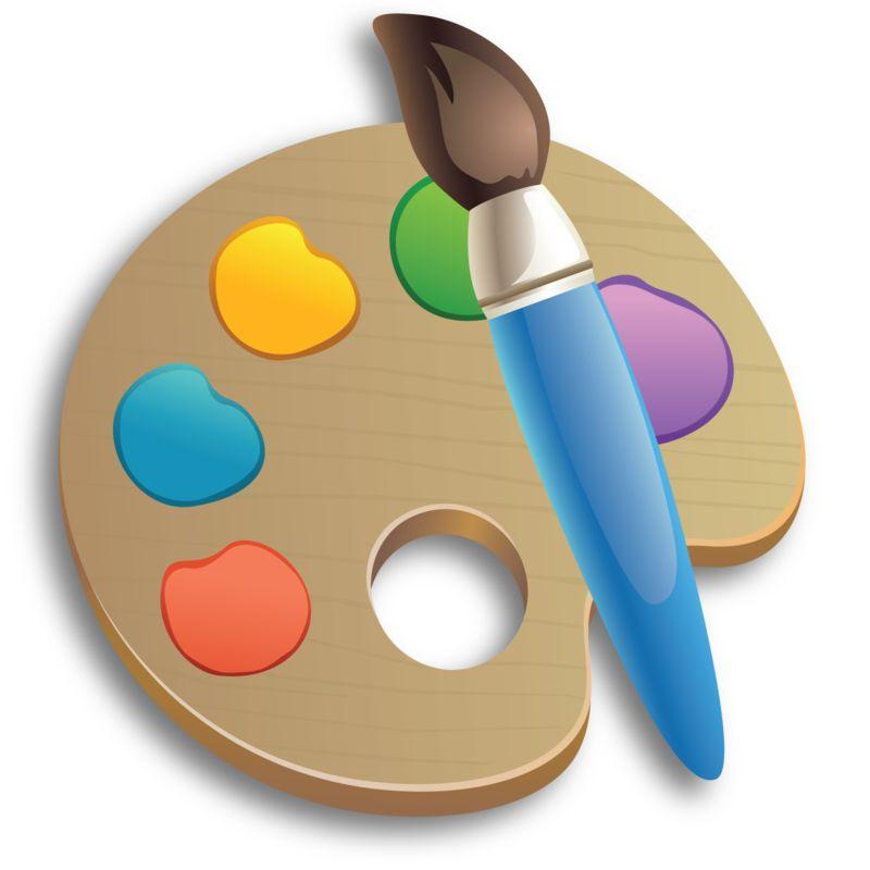 Clipart - Paintbrush Palette