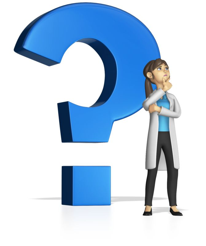 This Presentation Clipart shows a preview of Standing By Question Mark Custom